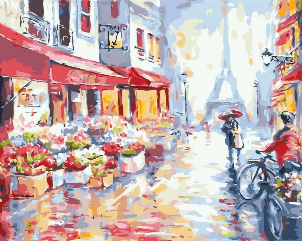 Цветочная улица в Париже - GX7959