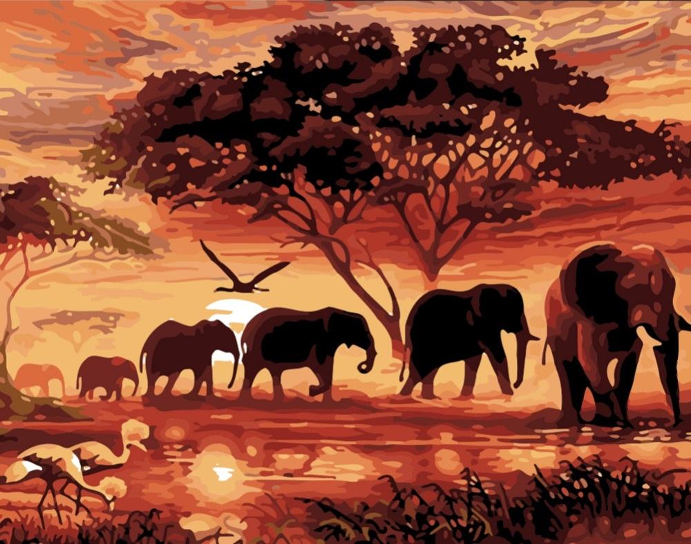 Слоны в саванне - GX5189
