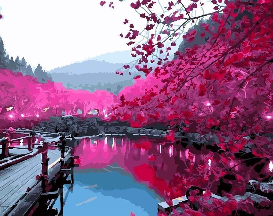 Сакура над озером - GX5698