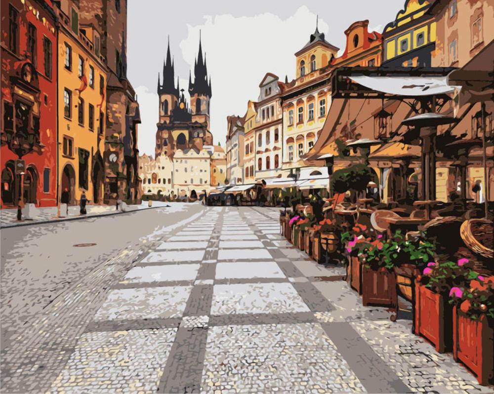 Купить картину: Улицы Праги, GX7120 | Brushme — Картины по ...