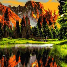 Закат в горной долине - GX3348