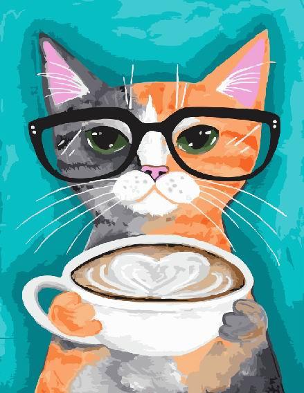 Кот и кофе - GX22698