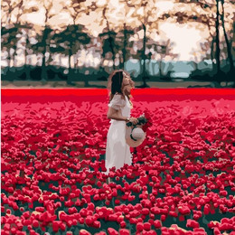 Девушка в поле тюльпанов Лиссе - GX24932