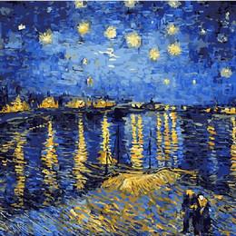 Звездная ночь над Роной. Ван Гог - G323
