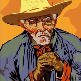 Портрет крестьянина Патьенса Эскалье. Ван Гог - GX6353