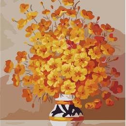 Желтые цветы в вазе - GX7333