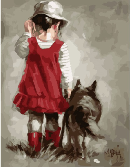 Девочка и волк - GX8378