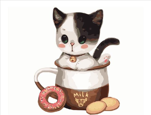 Котёнок и чаепитие - GX8393