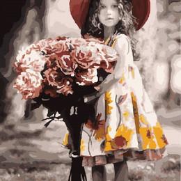 Маленькая мадам с розами - GX8536