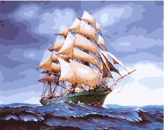 Бригантина в буйном море - GX25149