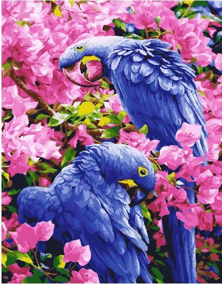Птицы в цветах - GX25245