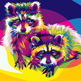 Радужные еноты - GX26202