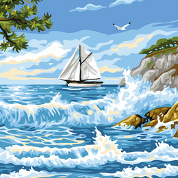 Прибой у острова - GX24116