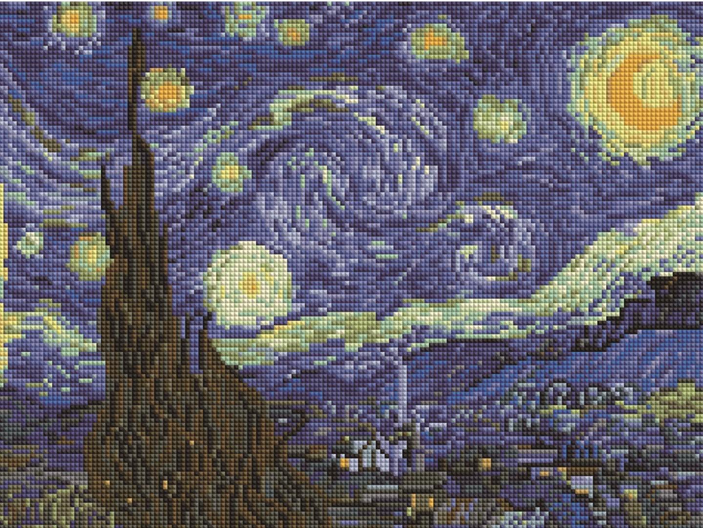 Купить картину: Звездная ночь. Ван гог, EF191 | Brushme ...
