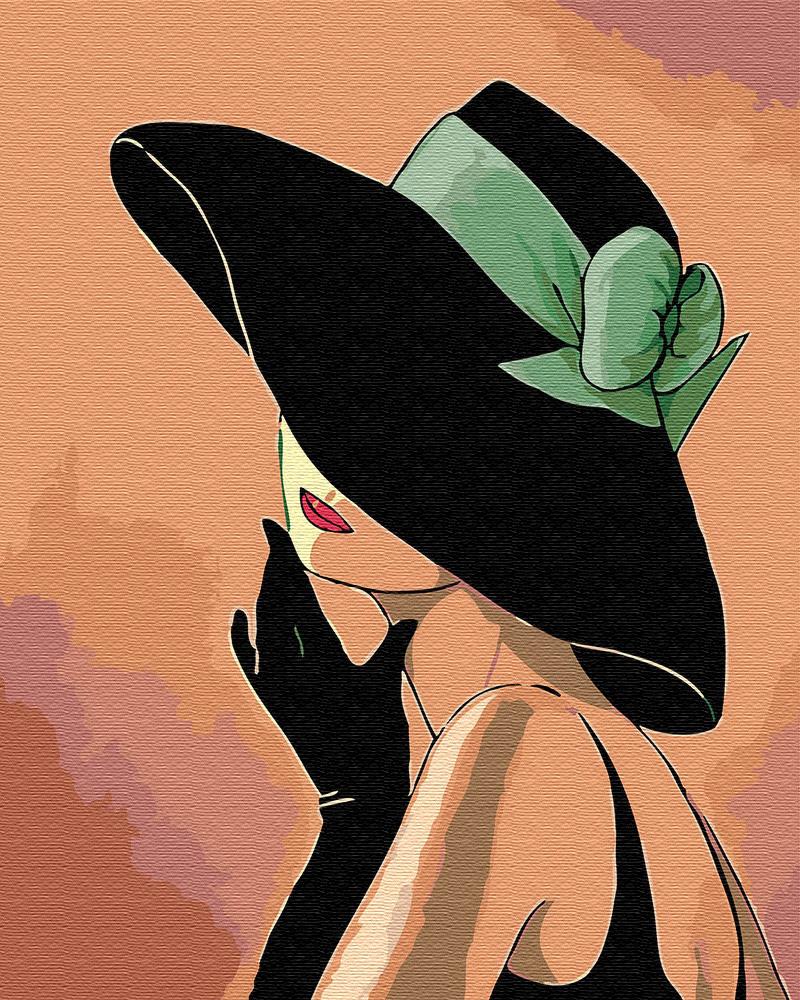 Анимация, прикольные картинки женщина в шляпе